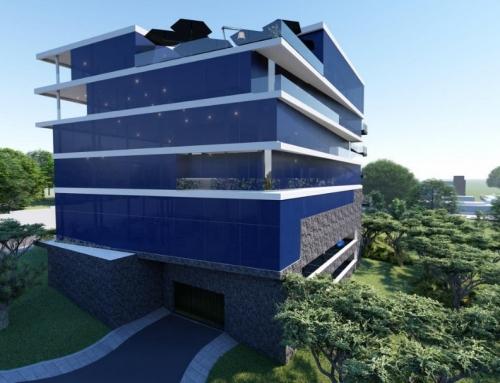 Construction d'un Immeuble 2SS+RDC+4 Olezoa pour Bureaux